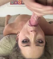 Warm cum all over her face